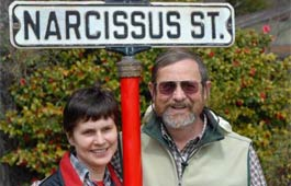 Brent-and-Becky-with-Narcissus-Street-sign2